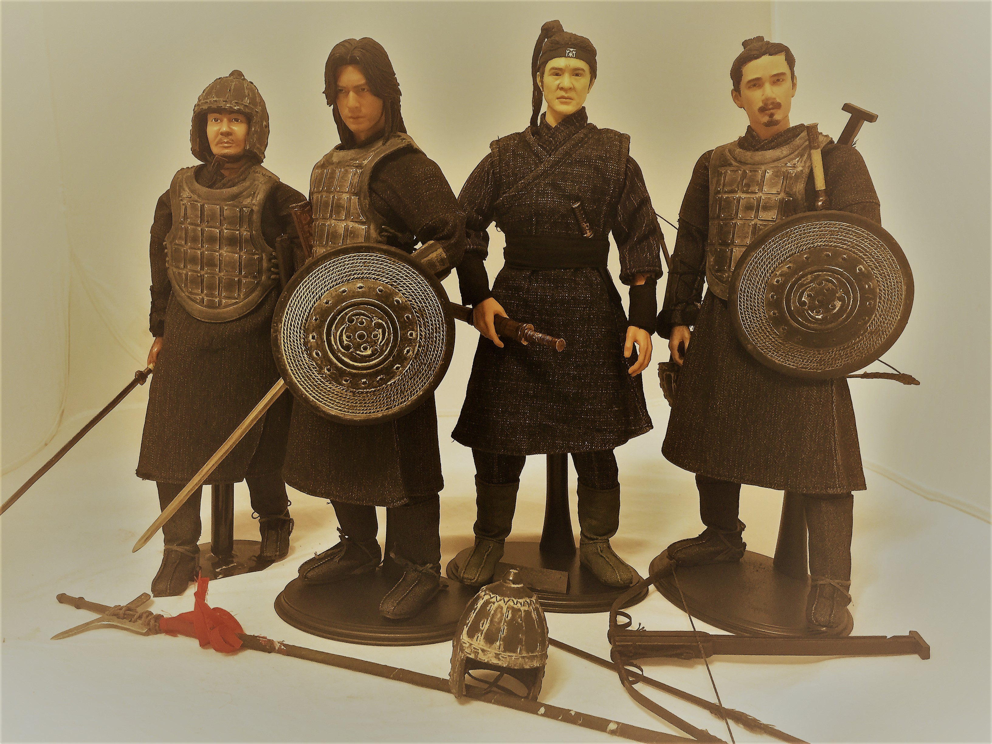Set of 4 qin dynasty 1 6 scale hero soldiers action for House of dynasty order online