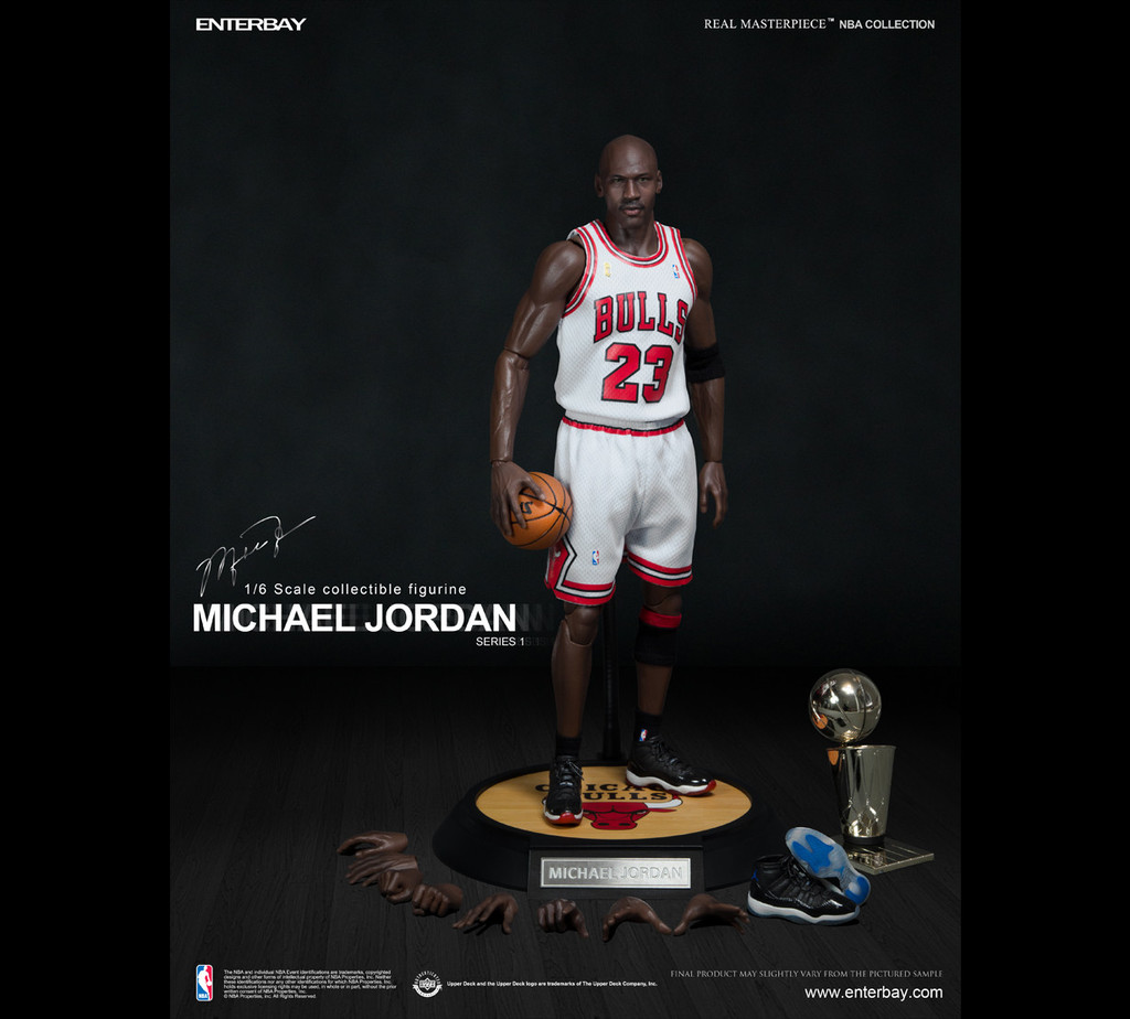 (RM-1052) 1 6 Real Masterpiece  NBA Collection – Michael Jordan I am Legend  (Series 1)  23 Home Jersey Edition by Enterbay  cc0a1b1b0