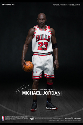 (RM-1052) 1 6 Real Masterpiece  NBA Collection – Michael Jordan I am Legend  (Series 1)  23 Home Jersey Edition by Enterbay 39c5d42af