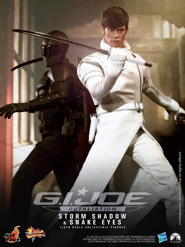Hot Toys 1/6 Scale G I JOE Retaliation Storm Shadow Lee Byung Hun Ninja  Figures